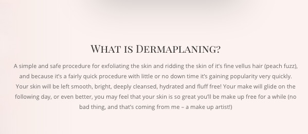 Dermaplaning in North Cornwall